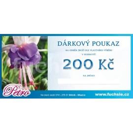 Dárkový poukaz 200